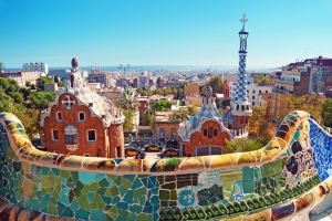 Parc Guell, Barcelona, Cod 255
